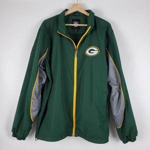 NFL Green Bay Packers full zip windbreaker L